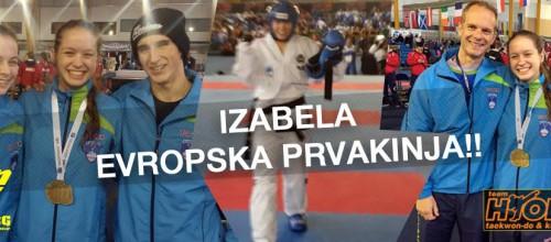Izabela But evropska prvakinja v taekwon-doju