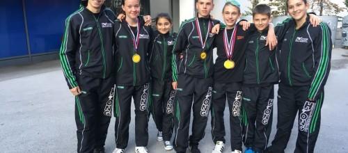 Mladi upi Hyonga pogumno na tekmi v taekwondoju v Velenju