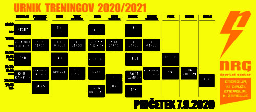 NOV URNIK za sezono 2020/2021